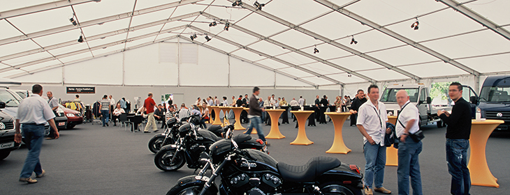 Point-of-Sale large tent motorcycle exhibition